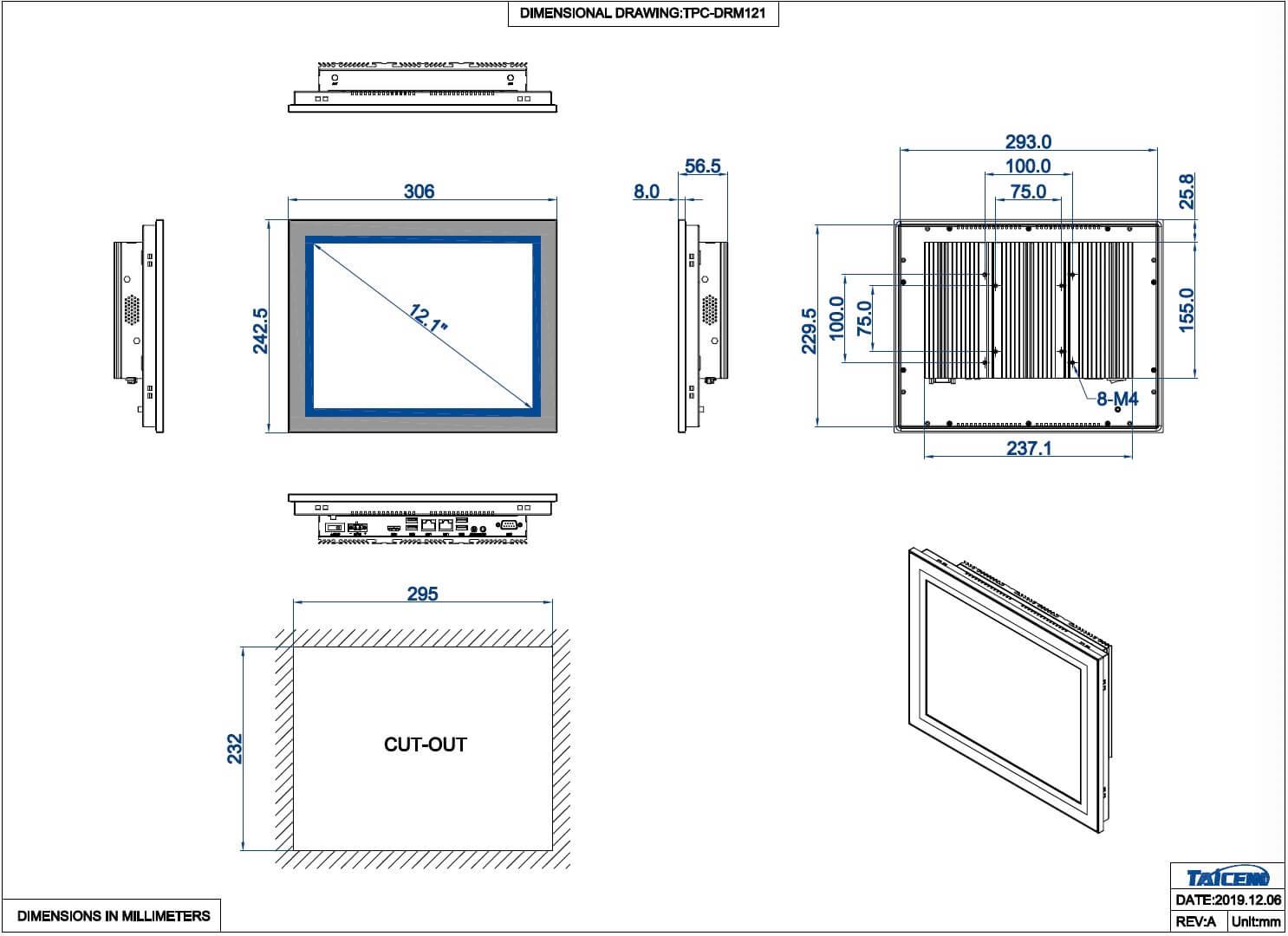 TAICENN Industrial touch panel PC